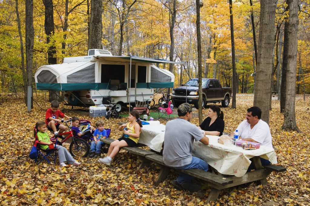 family camping O'Bannon Woods
